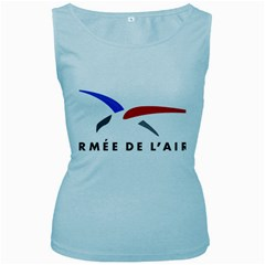 Logo of The French Air Force  Women s Baby Blue Tank Top