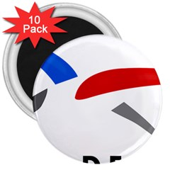 Logo of The French Air Force  3  Magnets (10 pack)