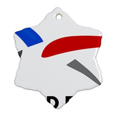 Logo of The French Air Force  Ornament (Snowflake)