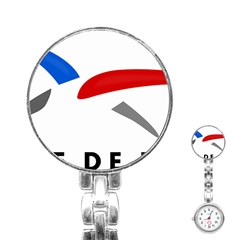Logo of The French Air Force  Stainless Steel Nurses Watch