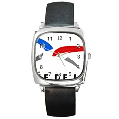 Logo Of The French Air Force (armee De L air) Square Metal Watch
