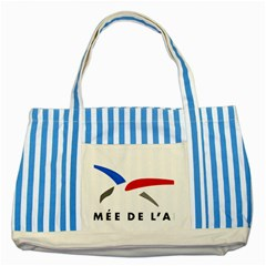 Logo Of The French Air Force (armee De L air) Striped Blue Tote Bag