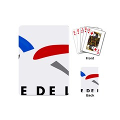Logo Of The French Air Force (armee De L air) Playing Cards (Mini)