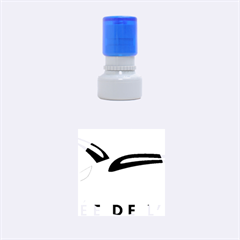 Logo Of The French Air Force (armee De L air) Rubber Round Stamps (Small)