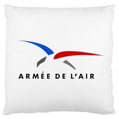 Logo Of The French Air Force (armee De L air) Large Cushion Case (one Side)