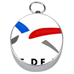 Logo Of The French Air Force (armee De L air) Silver Compasses