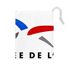 Logo Of The French Air Force (armee De L air) Drawstring Pouches (Large)