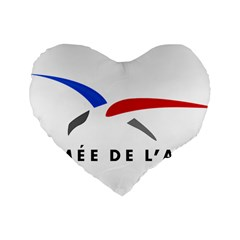 Logo Of The French Air Force (armee De L air) Standard 16  Premium Flano Heart Shape Cushions