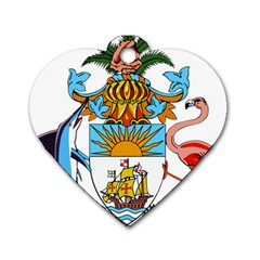 Coat of Arms of the Bahamas Dog Tag Heart (One Side)