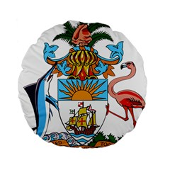 Coat of Arms of the Bahamas Standard 15  Premium Round Cushions