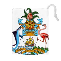 Coat of Arms of the Bahamas Drawstring Pouches (Extra Large)