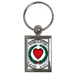 Seal of Worcester, Massachusetts Key Chains (Rectangle)