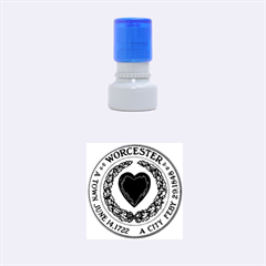 Seal of Worcester, Massachusetts Rubber Round Stamps (Small)
