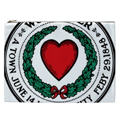 Seal of Worcester, Massachusetts Cosmetic Bag (XXL)