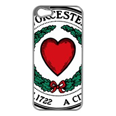 Seal of Worcester, Massachusetts Apple iPhone 5 Case (Silver)