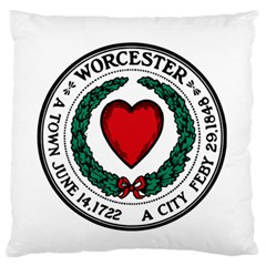 Seal of Worcester, Massachusetts Standard Flano Cushion Case (Two Sides)