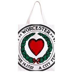 Seal of Worcester, Massachusetts Classic Light Tote Bag