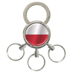 Flag of Poland 3-Ring Key Chains