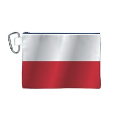Flag of Poland Canvas Cosmetic Bag (M)