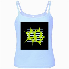 Yellow abstraction Baby Blue Spaghetti Tank