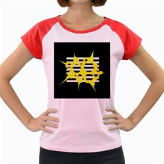 Yellow abstraction Women s Cap Sleeve T-Shirt