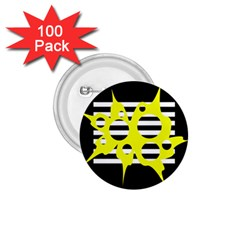 Yellow abstraction 1.75  Buttons (100 pack)