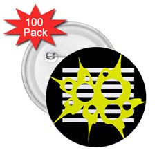 Yellow abstraction 2.25  Buttons (100 pack)