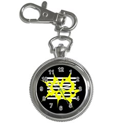 Yellow abstraction Key Chain Watches