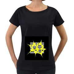 Yellow abstraction Women s Loose-Fit T-Shirt (Black)