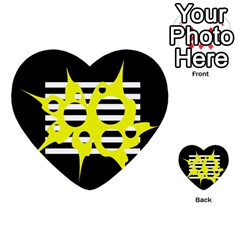 Yellow abstraction Multi-purpose Cards (Heart)