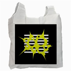 Yellow abstraction Recycle Bag (One Side)