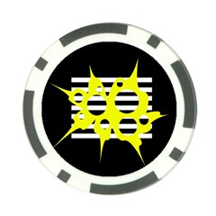 Yellow abstraction Poker Chip Card Guards (10 pack)