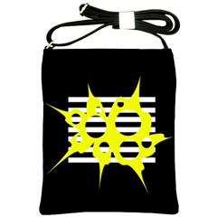 Yellow abstraction Shoulder Sling Bags