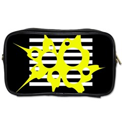 Yellow abstraction Toiletries Bags