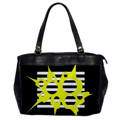 Yellow abstraction Office Handbags
