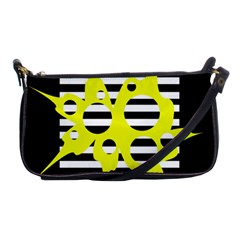 Yellow abstraction Shoulder Clutch Bags