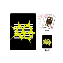 Yellow abstraction Playing Cards (Mini)