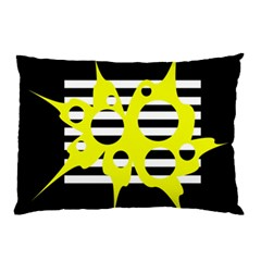 Yellow abstraction Pillow Case (Two Sides)