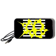 Yellow abstraction Portable Speaker (Black)