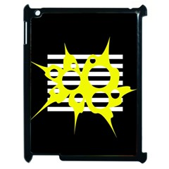 Yellow abstraction Apple iPad 2 Case (Black)