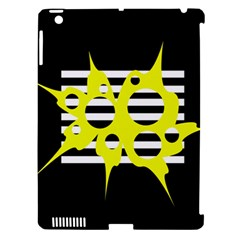 Yellow abstraction Apple iPad 3/4 Hardshell Case (Compatible with Smart Cover)