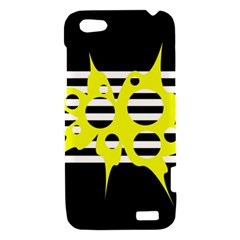Yellow abstraction HTC One V Hardshell Case