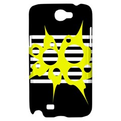 Yellow abstraction Samsung Galaxy Note 2 Hardshell Case