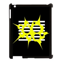 Yellow abstraction Apple iPad 3/4 Case (Black)