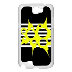 Yellow abstraction Samsung Galaxy Note 2 Case (White)