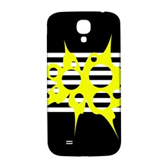 Yellow abstraction Samsung Galaxy S4 I9500/I9505  Hardshell Back Case