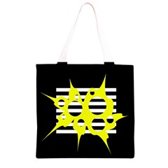 Yellow abstraction Grocery Light Tote Bag