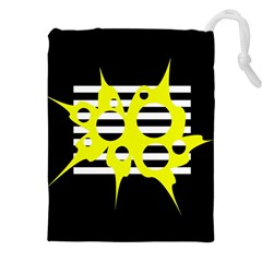 Yellow abstraction Drawstring Pouches (XXL)
