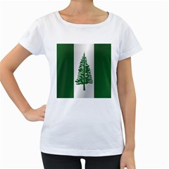 Flag Of Norfolk Island Women s Loose-Fit T-Shirt (White)