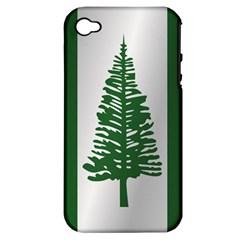 Flag Of Norfolk Island Apple iPhone 4/4S Hardshell Case (PC+Silicone)